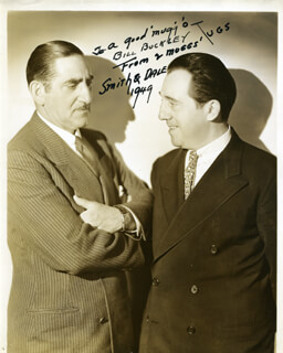 SMITH & DALE - INSCRIBED PHOTOGRAPH UNSIGNED 1949