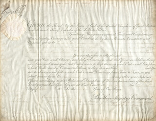 Autographs: KING GEORGE IV (GREAT BRITAIN) - MILITARY APPOINTMENT SIGNED 10/15/1811 CO-SIGNED BY: RICHARD RYDER