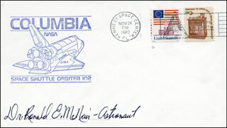 RONALD E. McNAIR - COMMEMORATIVE ENVELOPE SIGNED
