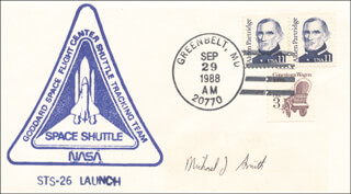CAPTAIN MICHAEL J. SMITH - COMMEMORATIVE ENVELOPE SIGNED