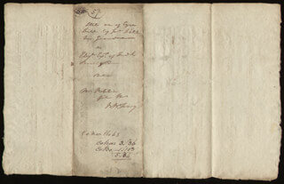 Autographs: CHIEF JUSTICE ROGER B. TANEY - AUTOGRAPH DOCUMENT SIGNED 04/25/1805