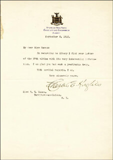 CHIEF JUSTICE CHARLES E HUGHES - TYPED LETTER SIGNED 09/06/1910
