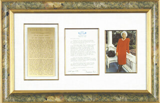 Autographs: FIRST LADY BARBARA BUSH - TYPED LETTER SIGNED 03/31/1988