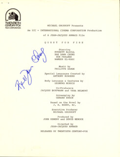RAE DAWN CHONG - PRESS RELEASE SIGNED