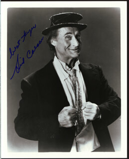 SID CAESAR - AUTOGRAPHED SIGNED PHOTOGRAPH