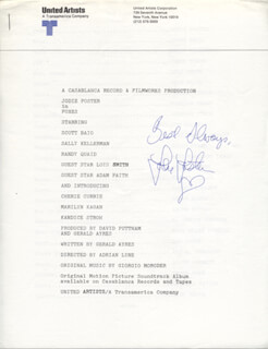JODIE FOSTER - PRESS RELEASE SIGNED