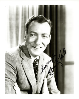 HUNTZ HALL - AUTOGRAPHED SIGNED PHOTOGRAPH