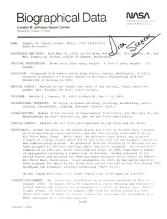 LT. COLONEL DICK (FRANCIS R.) SCOBEE - RESUME SIGNED 1/1980