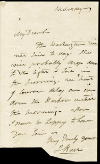 Autographs: COMMODORE ISAAC HULL - AUTOGRAPH LETTER SIGNED