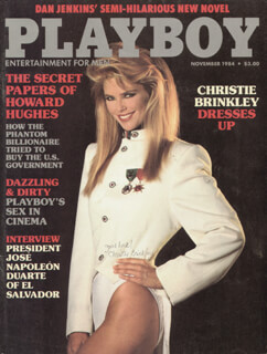 CHRISTIE BRINKLEY - MAGAZINE COVER SIGNED