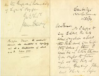 SIR JAMES DEWAR - AUTOGRAPH LETTER SIGNED 11/25/1896