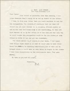 THOMAS DIXON JR. - TYPED LETTER SIGNED 02/03/1937