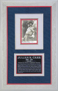 GENERAL JULIEN S. CARR - AUTOGRAPHED SIGNED PHOTOGRAPH
