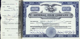 LAWRENCE W. FOX JR. - STOCK CERTIFICATE SIGNED 04/30/1937  - HFSID 85528