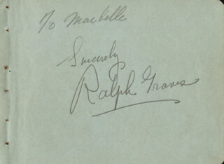 RALPH GRAVES - AUTOGRAPH NOTE SIGNED