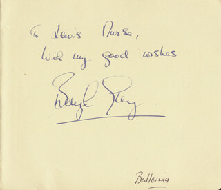BERYL GREY - AUTOGRAPH NOTE SIGNED