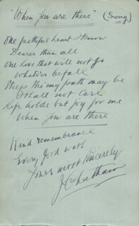 Autographs: JOHN CHEETHAM - AUTOGRAPH LYRICS SIGNED 1917 CO-SIGNED BY: GEORGE FORMBY SR.