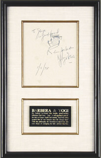 JOSEPH BARBERA - INSCRIBED CARTOON SIGNED 01/09/1978