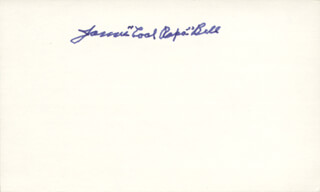 JAMES COOL PAPA BELL - AUTOGRAPH