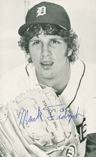 MARK THE BIRD FIDRYCH - AUTOGRAPHED SIGNED PHOTOGRAPH