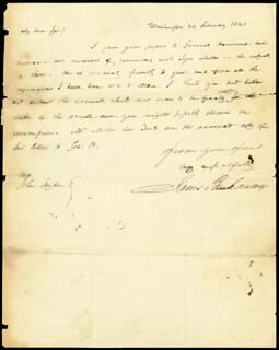 Autographs: PRESIDENT JAMES BUCHANAN - AUTOGRAPH LETTER SIGNED 02/26/1841 CO-SIGNED BY: JESSE MILLER