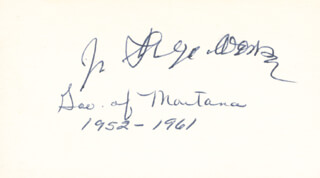 Autographs: GOVERNOR JOHN HUGO ARONSON - SIGNATURE(S)