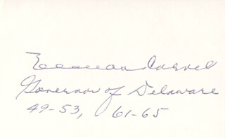 GOVERNOR ELBERT N. CARVEL - AUTOGRAPH