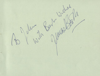 JAMES BOOTH - AUTOGRAPH NOTE SIGNED