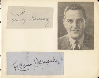 STANLEY HOLLOWAY - AUTOGRAPH CO-SIGNED BY: FLORENCE DESMOND
