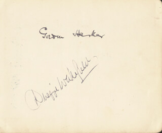 GORDON HARKER - AUTOGRAPH CO-SIGNED BY: DUGGIE WAKEFIELD, KEMBLE KEAN AND LAUREL MATHER