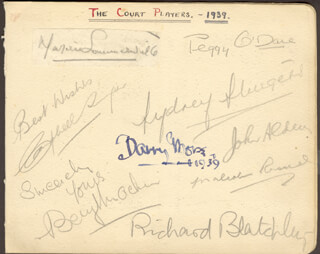 BARRY MORSE - AUTOGRAPH 1939 CO-SIGNED BY: PEGGY (PEGGY O'DAY) O'DARE, MARJORIE SOMMERVILLE, SYDNEY STURGESS, CAMPBELL SINGER