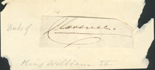 KING WILLIAM IV - AUTOGRAPH