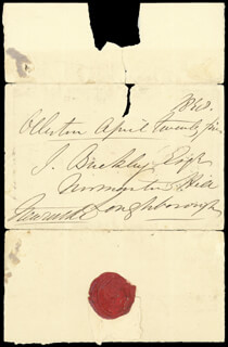 Autographs: DUKE (HENRY PELHAM-CLINTON) OF NEWCASTLE IV - AUTOGRAPH ENVELOPE SIGNED 04/25/1890
