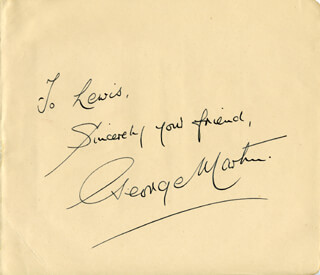 GEORGE MARTIN - AUTOGRAPH NOTE SIGNED