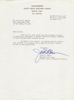 REAR ADMIRAL JACK A. GARROW - TYPED LETTER SIGNED 08/23/1976