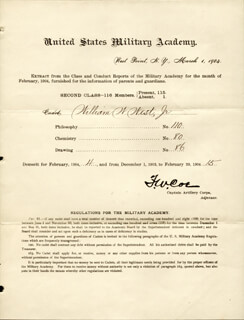 Autographs: MAJOR GENERAL F. W. COE - DOCUMENT UNSIGNED 03/01/1904