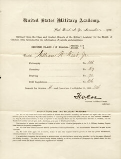 Autographs: MAJOR GENERAL F. W. COE - DOCUMENT UNSIGNED 11/12/1903