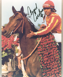 ANGEL CORDERO JR. - AUTOGRAPHED SIGNED PHOTOGRAPH