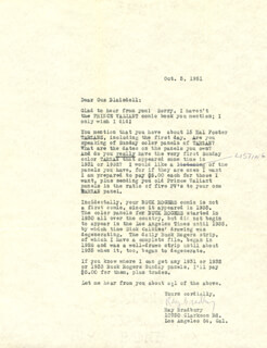 RAY BRADBURY - TYPED LETTER SIGNED 10/05/1951