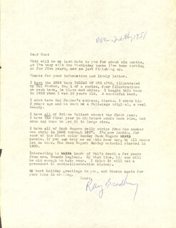 RAY BRADBURY - TYPED LETTER SIGNED 12/20/1951