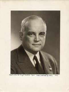 ASSOCIATE JUSTICE HAROLD H. BURTON - AUTOGRAPHED INSCRIBED PHOTOGRAPH 11/07/1941