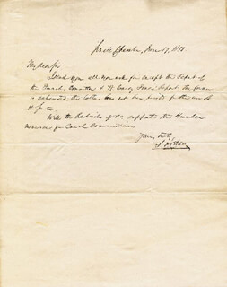 Autographs: CHIEF JUSTICE SALMON P. CHASE - AUTOGRAPH LETTER SIGNED 06/17/1850
