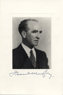 Autographs: ASSOCIATE JUSTICE FRANK MURPHY - PHOTOGRAPH SIGNED