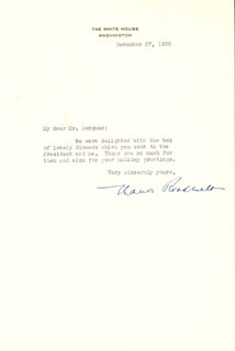 FIRST LADY ELEANOR ROOSEVELT - TYPED LETTER SIGNED 12/27/1938