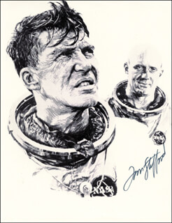 Autographs: LT. GENERAL THOMAS P. STAFFORD - ILLUSTRATION SIGNED