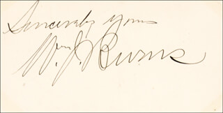 Autographs: WILLIAM J. NEVER FAIL BURNS - SIGNATURE(S)