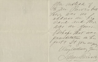 LILLIAN RUSSELL - AUTOGRAPH LETTER SIGNED