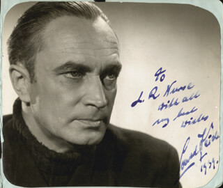 CONRAD VEIDT - AUTOGRAPHED INSCRIBED PHOTOGRAPH 1939