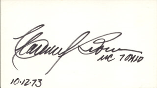 CLARENCE J. BROWN JR. - AUTOGRAPH 10/12/1973