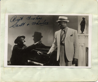 SCOTT & WHALEY (HARRY PUSSY-FOOT SCOTT) - AUTOGRAPHED SIGNED PHOTOGRAPH